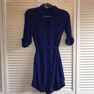 Express Blue Pocket Dress